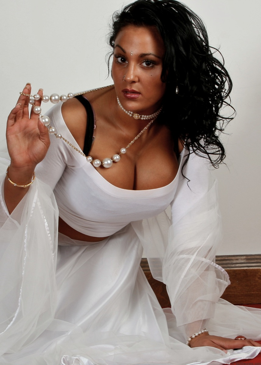 Picture gallery 25. Petite indian babe keira in white pearl indian dress