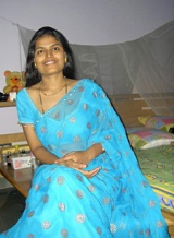 Picture gallery 44. Indian wife aprita in blue saree stripping off in bedroom