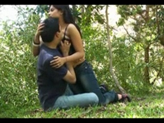 Dp fhg 717. Indian honeymoon couple in park getting naughty