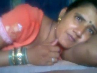 Dp fhg 767. Lucknow wife in excited saree laying in bed